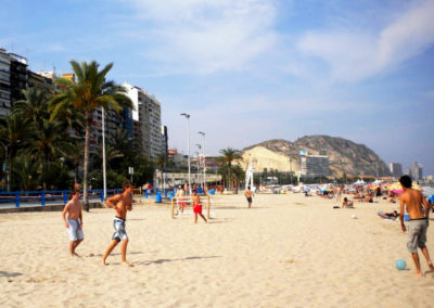 Wit zandstrand Alicante