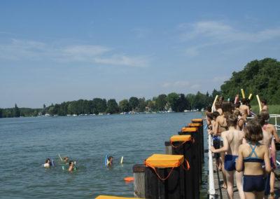 Zwemmen meer bij Berlijn