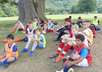 Voetbalkamp uitrusten