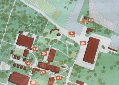 Kaart van de schoolcampus
